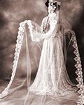 ミカドシルクのウェディングドレス ブランシュ・ネージュ